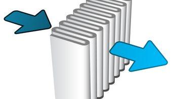 Luft wird durch HEPA-Filter von Partikeln gereinigt